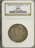 Bust Half Dollars: , 1828 50C Curl Base 2, No Knob XF40 NGC. O-103. NGC Census:(31/780). PCGS Population (29/444). Mintage: 3,075,200. Numisme...