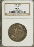 Bust Half Dollars: , 1825 50C VF30 NGC. O-105. NGC Census: (13/795). PCGS Population(12/782). Mintage: 2,900,000. Numismedia Wsl. Price for NG...