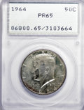 Proof Kennedy Half Dollars: , 1964 50C PR65 PCGS. PCGS Population (1077/8583). NGC Census:(209/5363). Mintage: 3,950,762. Numismedia Wsl. Price for NGC/...