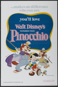 "Movie Posters:Animated, Pinocchio (Buena Vista, R-1978). One Sheet (27"" X 41""). Animated...."