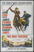 "Movie Posters:Western, Two Rode Together (Columbia, 1961). One Sheet (27"" X 41"").Western.. ..."