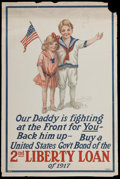 "Movie Posters:War, World War I -- 2nd Liberty Loan (T. F. Moore, 1917). Poster (20"" X30""). War...."