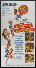 "Movie Posters:Adventure, Five Weeks in a Balloon (20th Century Fox, 1962). Three Sheet (41""X 81""). Adventure...."