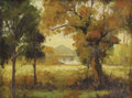 Texas:Early Texas Art - Regionalists, CHARLES TAYLOR BOWLING (American, 1891-1985). Early Autumn,Jefferson, Texas, circa 1945. Oil on artist's board. 12 x 16...