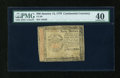 Colonial Notes:Continental Congress Issues, Continental Currency January 14, 1779 $40 PMG Extremely Fine 40....