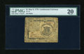 Colonial Notes:Continental Congress Issues, Continental Currency May 9, 1776 $1 PMG Very Fine 20....