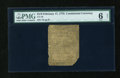 Colonial Notes:Continental Congress Issues, Continental Currency February 17, 1776 $1/6 PMG Net Good 6....