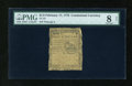 Colonial Notes:Continental Congress Issues, Continental Currency February 17, 1776 $1/2 PMG Net Very Good 8....