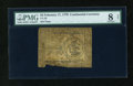 Colonial Notes:Continental Congress Issues, Continental Currency February 17, 1776 $3 PMG Net Very Good 8....