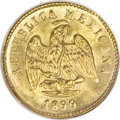 Mexico, Mexico: Republic gold Peso 1899Mo-M,...
