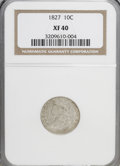 Bust Dimes: , 1827 10C XF40 NGC. NGC Census: (6/212). PCGS Population (14/202).Mintage: 1,300,000. Numismedia Wsl. Price for NGC/PCGS co...