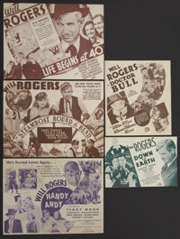 Down to Earth Lot (Fox, 1932). Heralds (5). Comedy.... (Total: 5 Items)