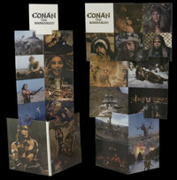 Conan the Barbarian (Universal, 1982). Standee. Action