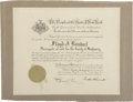 "Autographs:U.S. Presidents, Franklin D. Roosevelt: 1932 Proclamation Signed as New YorkGovernor.. -August 9, 1932. Albany, New York. 17.5"" x 14.75"".. -..."