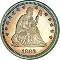 Proof Seated Quarters, 1883 25C PR68 Cameo NGC. CAC....