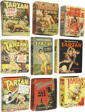 Golden Age (1938-1955):Miscellaneous, Big Little Book Tarzan Group (Whitman, 1935-50).... (Total: 9 Items)