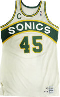 Basketball Collectibles:Uniforms, 1987 Clemon Johnson Game Used Jersey....