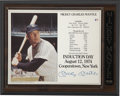Autographs:Photos, Mickey Mantle Signed Stat Sheet....