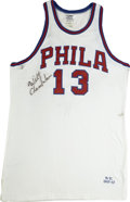 Basketball Collectibles:Others, Wilt Chamberlain Signed Throwback Jersey....