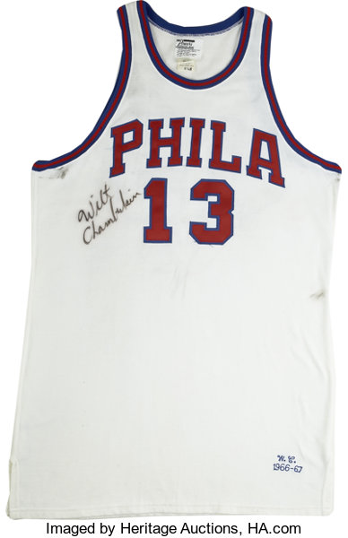 the latest d8668 c10a0 Wilt Chamberlain Signed Throwback Jersey.... Basketball ...