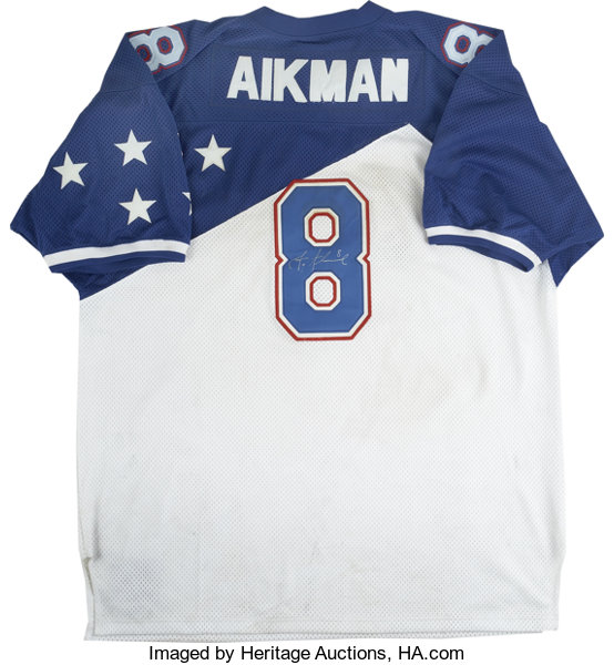 763618a6b Football Collectibles:Uniforms, Troy Aikman Signed Mitchell & Ness Pro  Bowl Jersey.