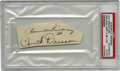 Autographs:Letters, Branch Rickey and Chuck Dressen Dual-Signed Cut Signature....
