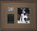 Autographs:Sports Cards, Roberto Clemente Signed Card in Framed Display. ...