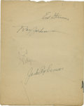 Autographs:Others, 1947 Jackie Robinson Signed Album Page....