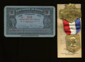 U.S. Presidents & Statesmen, 1932 Republican Convention Badge and Democratic ConventionTicket.... (Total: 2 pieces)