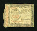 Colonial Notes:Continental Congress Issues, Continental Currency January 14, 1779 $40 Very Fine....