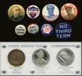 U.S. Presidents & Statesmen, Miscellaneous Buttons and Medals.... (Total: 11 items)