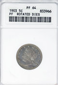 Errors, 1903 5C Liberty Nickel--Rotated Dies--PR64 ANACS. ...