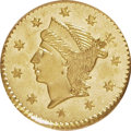 California Fractional Gold: , Undated 25C Liberty Round 25 Cents, BG-221, R.3, MS63 NGC. NGCCensus: (8/2). PCGS Population (49/36). (#10406)...