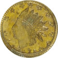 California Fractional Gold: , 1875 25C Indian Round 25 Cents, BG-847, R.4, MS64 Prooflike PCGS.PCGS Population (21/2). (#10708)...
