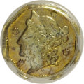 California Fractional Gold: , 1853 25C Liberty Octagonal 25 Cents, BG-102, Low R.4, MS63 PCGS.PCGS Population (36/16). NGC Census: (4/4). (#10371)...