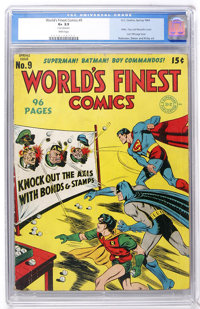 World's Finest Comics #9 (DC, 1943) CGC GD+ 2.5 White pages