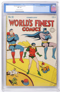 Golden Age (1938-1955):Superhero, World's Finest Comics #18 (DC, 1945) CGC FN- 5.5 Off-white to white pages....