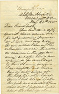 "Autographs:Statesmen, Charles A. Leale Autograph Letter Signed ""Chas. A. Leale"", 8 pages, 5"" x 8"", ""Armory Square"", U.S. Army General Hosp..."