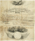 "Autographs:U.S. Presidents, Abraham Lincoln Partly Printed Document Signed in full, as president, one page, 13"" x 16"", Washington, 28 July 1862, counter..."