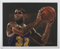 Basketball Collectibles:Others, Magic Johnson Signed Serigraph by Stephen Holland. ...