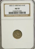 Seated Half Dimes: , 1855-O H10C Arrows AU55 NGC. NGC Census: (4/52). PCGS Population(4/41). Mintage: 600,000. Numismedia Wsl. Price for NGC/PC...