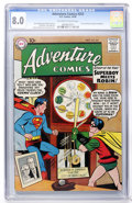Silver Age (1956-1969):Superhero, Adventure Comics #253 (DC, 1958) CGC VF 8.0 Off-white to white pages....