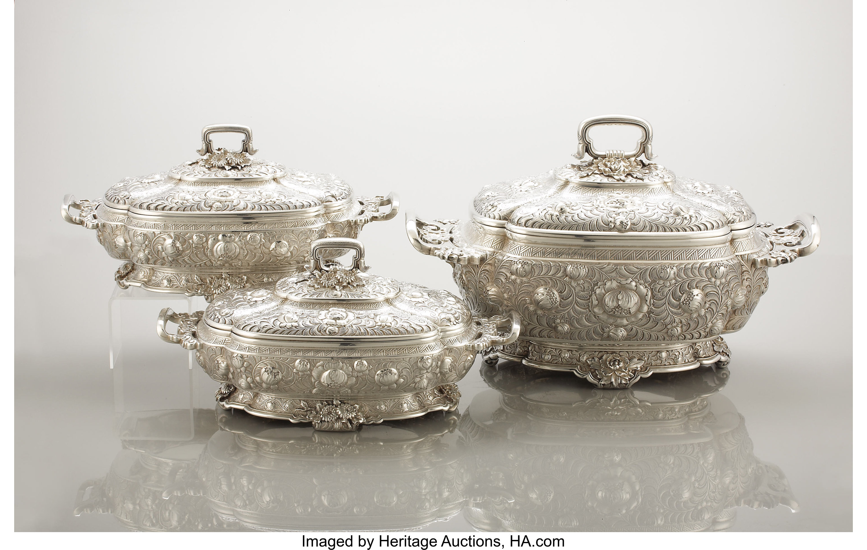 A Large American Covered Soup Tureen