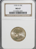 Washington Quarters, 1935-D 25C MS67 NGC....