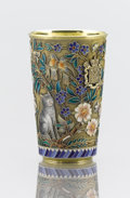 Silver Holloware, Continental:Holloware, A RUSSIAN CLOISONNÉ ENAMEL AND SILVER GILT BEAKER. PavelOvchinnikov, Moscow, Russia, 1896. Marks: PO (in Cyrillic)(ove...