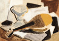 Fine Art - Painting, European, KARL SCHLAGETER (Swiss, 1894-1990). Still Life withMandolin. Gouache and watercolor on artist board. 10-1/2 x14-1/2 in...