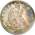 Seated Half Dollars, 1842-O 50C Small Date, Small Letters VF25 PCGS....