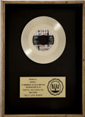 "Music Memorabilia:Awards, Wings ""Silly Love Songs"" RIAA Gold Single Award...."