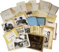 Movie/TV Memorabilia:Documents, Billy Wilder The Lost Weekend Production Archive.... (Total: 15 Items)