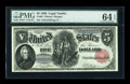 Large Size:Legal Tender Notes, Fr. 80 $5 1880 Legal Tender PMG Choice Uncirculated 64 EPQ....